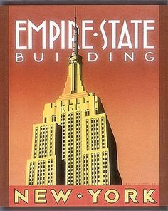 The Empire State Building is an epitomy of Art Deco style.  Often, thinking of New York City brings up this iconic image, along with a corresponding type font from the period.  (Some of my favorite fonts are in a Deco style.)