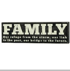 (Clearance) Box Sign - FAMILY
