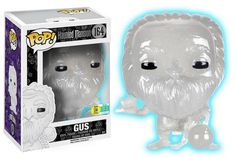 Funko announcing their 2016 SDCC exclusives wave three: Haunted Mansion - Gus (white glow glitter)