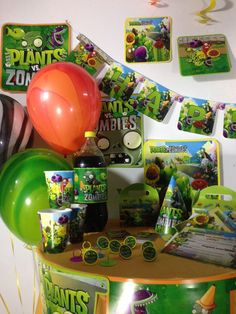 Plants vs Zombies Happy Birthday Party Decoration Supplies Table Banner | eBay