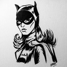 Batgirl #illustration #comic #penart (photo credit Raquel Diez) Pen Art, Batgirl, Hobbies And Crafts, Photo Credit, Comics, Illustration, Illustrations, Comic Book, Comic Books
