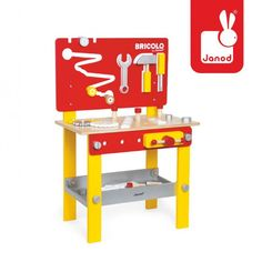 The Janod Redmaster DIY Workbench is a complete toy work set. The building toy includes lots of tools just like dad's workbench. Kids Workbench, Workbench Designs, Toys For Boys, Kids Toys, Building For Kids, Work Surface, Creative Play, Imaginative Play, Diy Tools