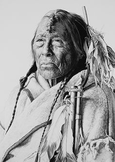 Eagle Arrow by William Harrison Wolff Carbon Pencil ~ x Native American Images, Native American History, Native American Indians, Native Americans, Hyper Realistic Paintings, Realistic Drawings, Native Indian, Wildlife Art, Gravure