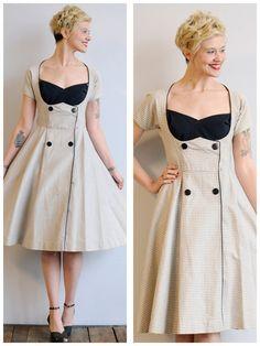 1950s Dress // Fier Beauté Dress // vintage 50s Saks Fifth Ave Dress