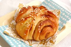"""Korvapuustit"".  A cardomomy sweet yeast dough filled with sugar and cinnamon. In Finland, you'll find them in every café or bakery."