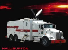 Logiq. Halliburton -  beautiful truck.  But I'm a lil partial.  -  wireline logging and perforating