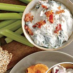 ... Appetizer Recipes: Blue Cheese-Bacon-Spinach Dip | CookingLight.com