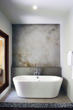 Plaster Wall Mural for Bathroom