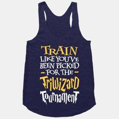 #harry #potter #train #fitness #workout #exercise #sweat #hogwarts #triwizard #tournament #magic #lightning bolt #active #dumbledore