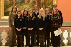 Members of the Marengo Future Farmers of America Organization with Senator Althoff in the capitol.