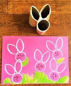Toilet paper roll bunny stamp easter projects, easter crafts for kids, crafts to do Easter Crafts For Toddlers, Easy Easter Crafts, Bunny Crafts, Easter Crafts For Kids, Crafts For Teens, Diy And Crafts, Easter Ideas, Fall Crafts, Easter Projects