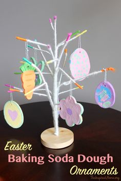 A couple of years ago, I purchased a little yarn-wrapped tree from Target. The ends of each branch are a bright colour, making me think of Easter. I hadn't found the perfect items to hang on the tree until now: Easter baking soda dough ornaments. Miss O enjoys painting but I'm notorious for disliking mess....Read More »