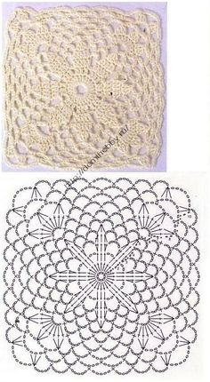 crochet lace square ....