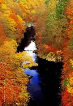 Pass of Killiecrankie in Autumn, Perthshire, Scotland