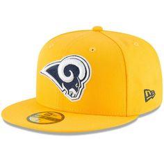 dea903a10611e Los Angeles Rams New Era Omaha 59FIFTY Hat - Gold  LosAngelesRams Nfl Shop
