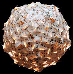 #upcycling - Incredible Pendant Card Lamp