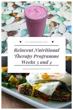 Reinvent Nutritional Therapy Programme Weeks 3 and 4 - Challenge Clare Life Challenges, Health And Wellbeing, Therapy, Nutrition, Thoughts, Fit, Shape, Impala