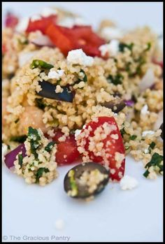 Clean Eating Greek Couscous Salad (Click Pic for Recipe) I completely swear by CLEAN eating!!  To INSANITY and back....  One Girls Journey to Fitness, Health, & Self Discovery.... http://mmorris.webs.com/