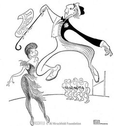 "Al Hirschfeld ~ Ray Bolger and Eileen Herlie in ""All American"""
