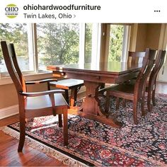 """Oh how we love when we see projects our customers and designers are working on. #repost from @ohiohardwoodfurniture post: """"Just delivered this gorgeous 7' @mackenziedowfurniture Trattoria Trestle table with Urbana chairs and Bayfield bench, all in rustic cherry hardwood with light distressing""""........#furniture #mackenziedowfurniture #mackenziedow #dining #traditional #woodworking #wood #woodtable #madeinusa #madeinamerica #americanfurniture #home #kitchen #homedecor"""