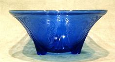 Beautiful!!!  Depression Glass, Pattern is Royal Lace in Cobalt Blue by Hazel Atlas Glass Company, circa 1940.