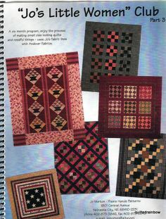 """Jo's Little Women"""" Club Part 3 Quilt Patterns from 2005 Club by Jo Morton - EBay - SOLD - I made some of these as part of that club....Terry"""