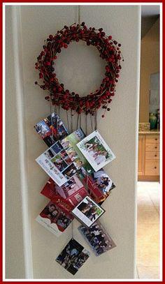 Holiday Card Display Idea