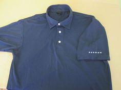 Mens DUNNING  Golf Polo  Shirt L Large  - Blue #Dunning #PoloShirt