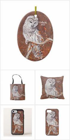 Barred Owl and Berries Wildlife Art