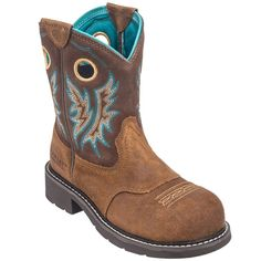 Ariat Women's 10016245 Tan Fatbaby Cowgirl Composite Toe Pull-On Boots
