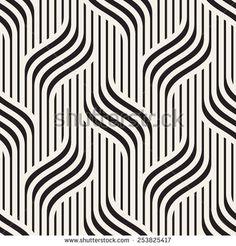 Vector seamless pattern. Modern stylish texture. Geometric wavy ornament. Monochrome striped braids