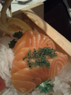 salmon with green masago?