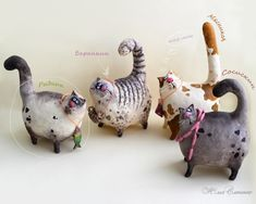 Gallery.ru / мяу-мяу - ДРУГИЕ МОИ РАБОТЫ - YS-art Pottery Animals, Ceramic Animals, Clay Animals, Ceramic Art, Paper Mache Crafts, Paper Mache Projects, Clay Projects, Comic Cat, Paper Mache Animals