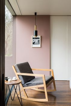 """Sulking Room Pink by Farrow & Ball. Sulking Room Pink is evocative of the colours often used in boudoirs, a room named after the French """"bouder"""" - to sulk. Bedroom Color Schemes, Bedroom Colors, Good Living Room Colors, Pink Living Room Paint, Bauhaus Style, Pink Bedrooms, Cottage Bedrooms, Room Paint Colors, Farrow Ball"""