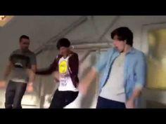 Louis harry and liam dancing cmon cmon.  DEAD