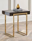 Shop Cronyn Veneer Side Table from Interlude Home at Horchow, where you'll find new lower shipping on hundreds of home furnishings and gifts. Marble Top Side Table, Marble End Tables, Metal Side Table, Gold Side Tables, Metal Tables, Modern Side Table, Gold Table, Steel Furniture, Table Furniture