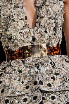 Alexander McQueen / TDF / flowering, bees &  silver glamming