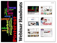PINTEREST WEBINAR: Libraries & Librarians Using Pinterest: Market & Connect with Users. Use this link @ https://docs.google.com/file/d/0B2BnhXx7UcAqaVlPTEk1c2w0Nnc/edit?usp=sharing to access handouts from the session: