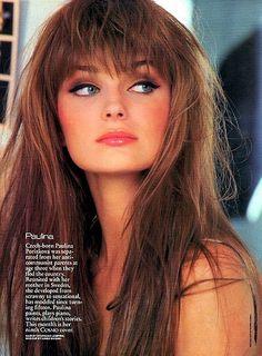 Paulina Porizkova, one of my favorite models Paulina Porizkova, Hair Inspo, Hair Inspiration, Bangs Back, Messy Bangs, Messy Fringe, Hair Bangs, Full Bangs, Glamour