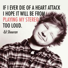 sorry for all the Ed Sheeran pins but no. I LOVE HIM Music Is Life, My Music, Music Heart, Music Lyrics, Music Stuff, Love Of My Life, In This World, Ed Sheeran Quotes, Me Toque