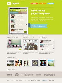 Popset web interface
