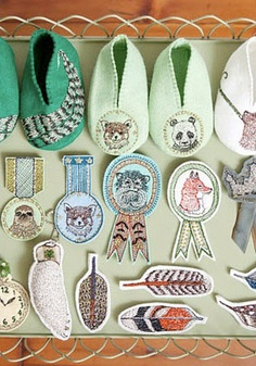 Coral & Tusk embroidered merit badges! adorable