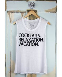 ALERT This fave from Chaser Brand is almost gone. One left size extra small. Plus it\'s half off! Link in bio #chaserbrand #cocktails #vacation #graphictee #sale #sugarclothusa