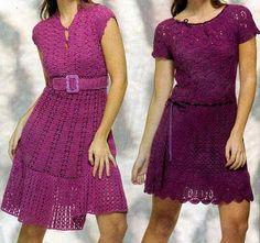 Vestidos Croche Graficos | Vestidos de Crochê