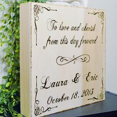Wood Burned Personalized Wooden Wedding by PaintBrushedBoutique, $59.00