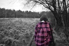 #coloursplash #photography #blackandwhite #woodland #red