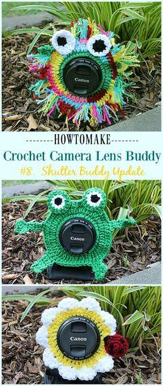 Crochet Shutter Buddies Update Free Pattern - #Crochet; Camera #Lens; Buddy Cozy Free Patterns