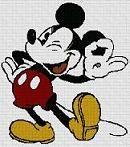 Patrón gratis de punto de cruz para descargar en pdf, imprimir y bordar dibujo Disney de Mickey Mouse