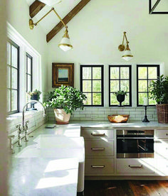 Are you searching for ideas for farmhouse interior? Browse around this website for cool farmhouse interior pictures. This specific farmhouse interior ideas seems to be entirely amazing. Modern Farmhouse Kitchens, Farmhouse Kitchen Decor, Home Decor Kitchen, Home Kitchens, Kitchen Ideas, Kitchen Modern, Rustic Farmhouse, Minimalist Kitchen, Minimalist Window