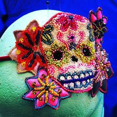 Here is Boris's Mrs! !! Meet Frida!!! #sparklyskull #sugarskull #sparklysugarskull #rocknrollwedding by thecoutureco
